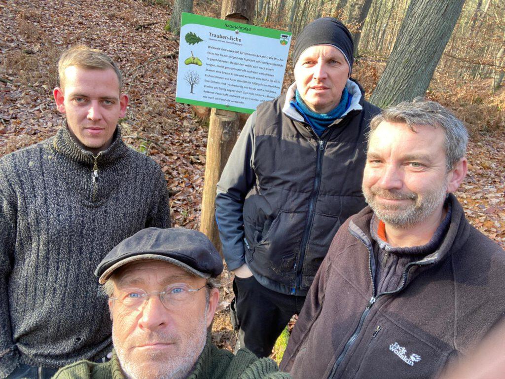 Neue Schilder für den Naturlehrpfad: Die Trauben-Eiche